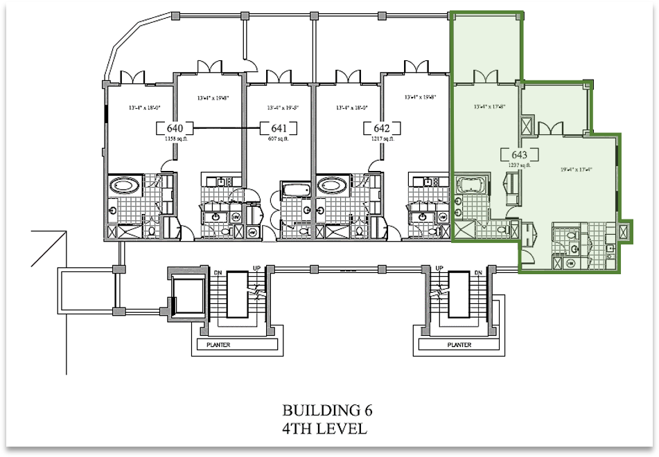 NBH Unit 643 Floor Plan
