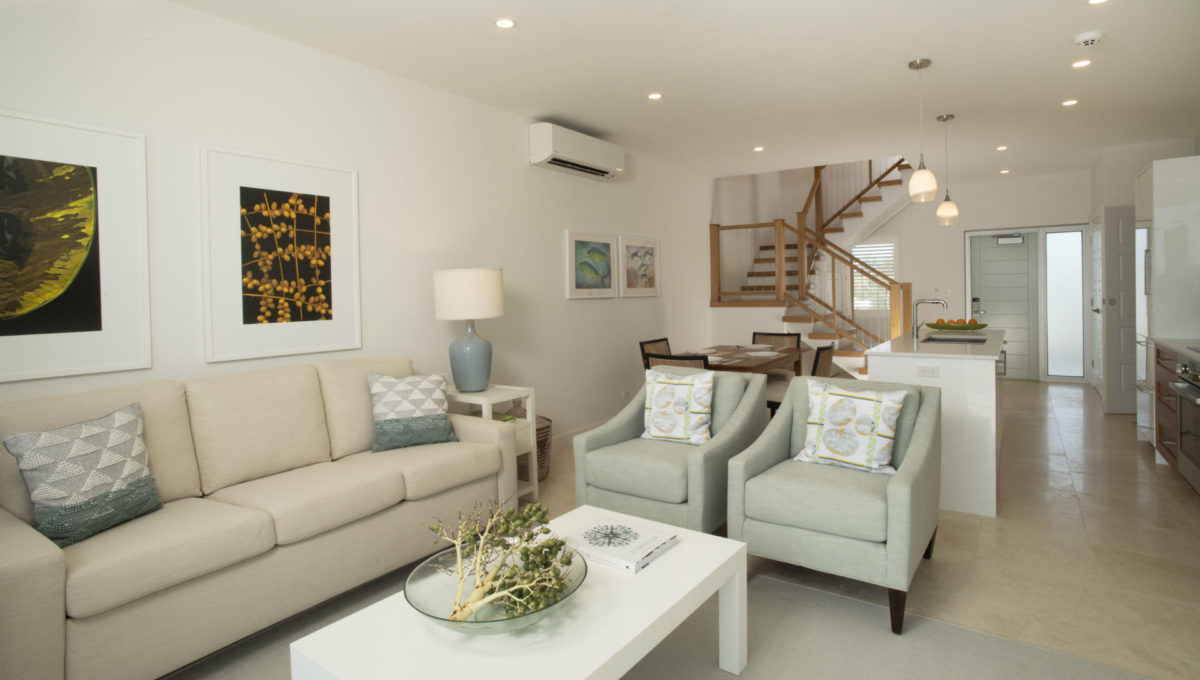 Ebb Tide living room and stairs