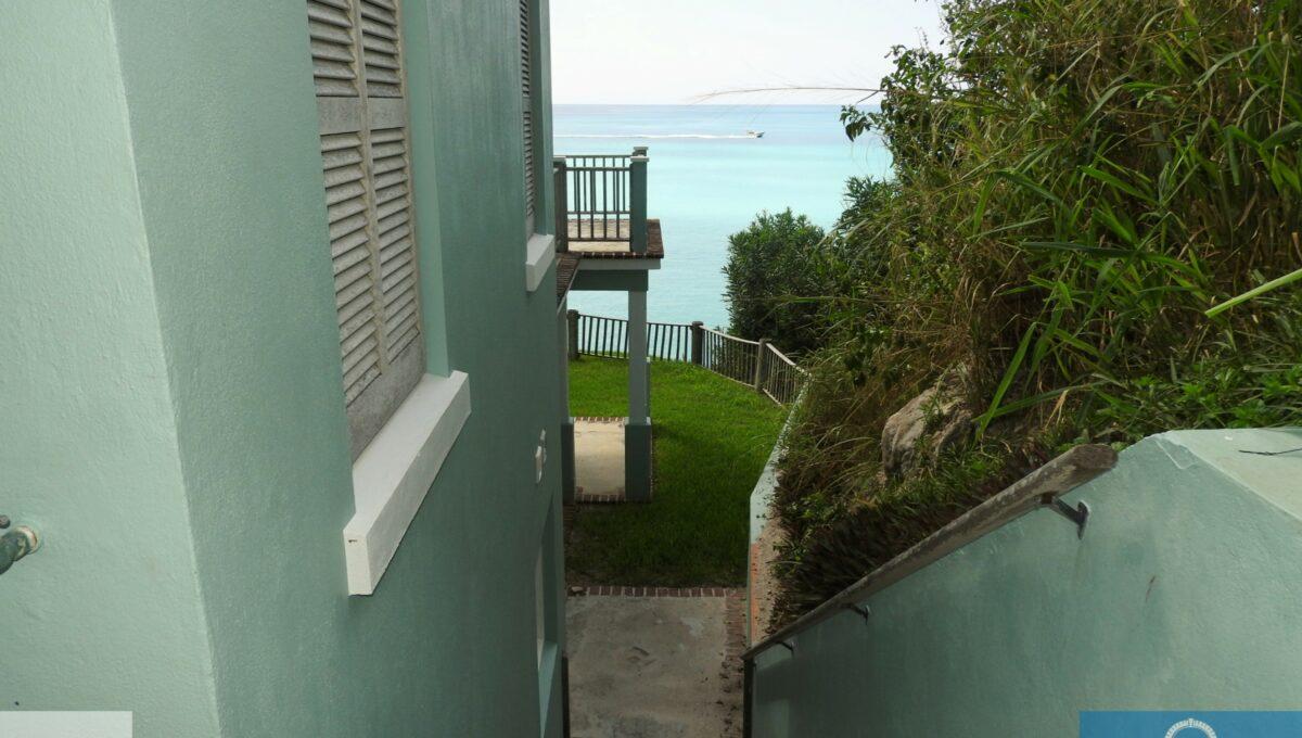 stairs to yard